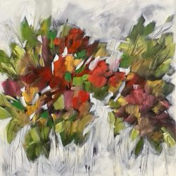 autumnal flowers painting