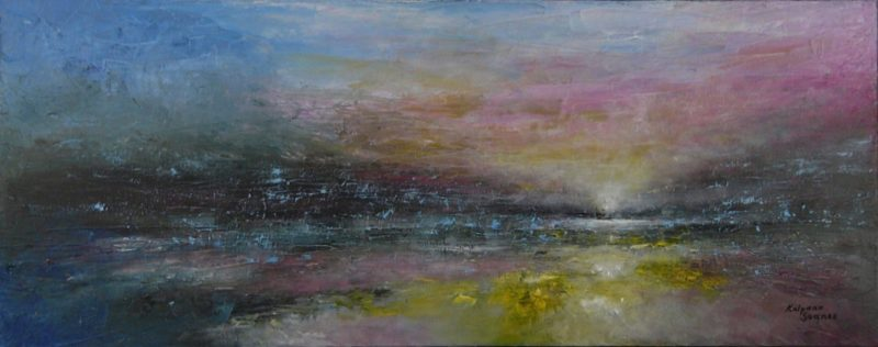 panoramic seascape by artist kalpana soanes