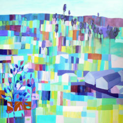 Patchwork Landscape Painting by Carolynne Coulson