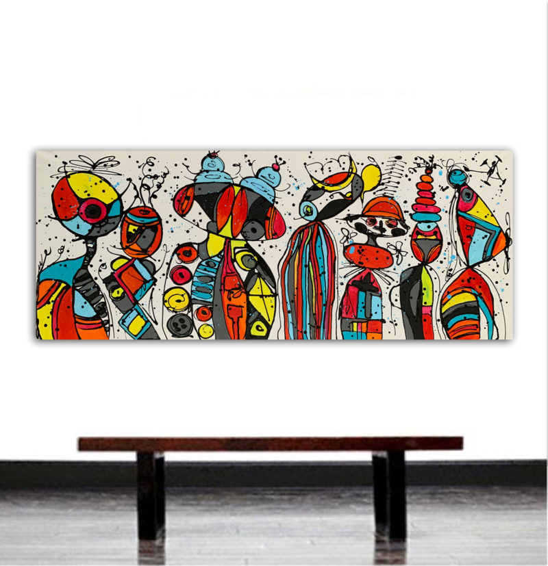 abstract figurative painting in acrylic on canvas