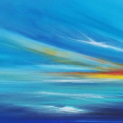 seascape in blues by artist melanie graham