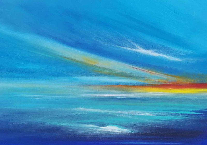 seascape in blues by artist melanie graham
