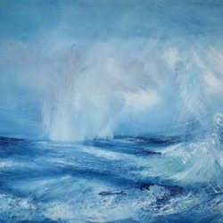 tempestuous horizon dramatic seascape by artist melanie graham