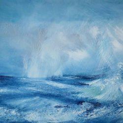 tempestuous horizon dramatic seascape by artist melanie graham
