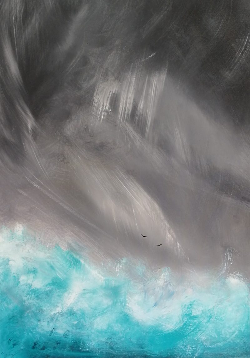 abstract seascape 'pure' by artist melanie graham