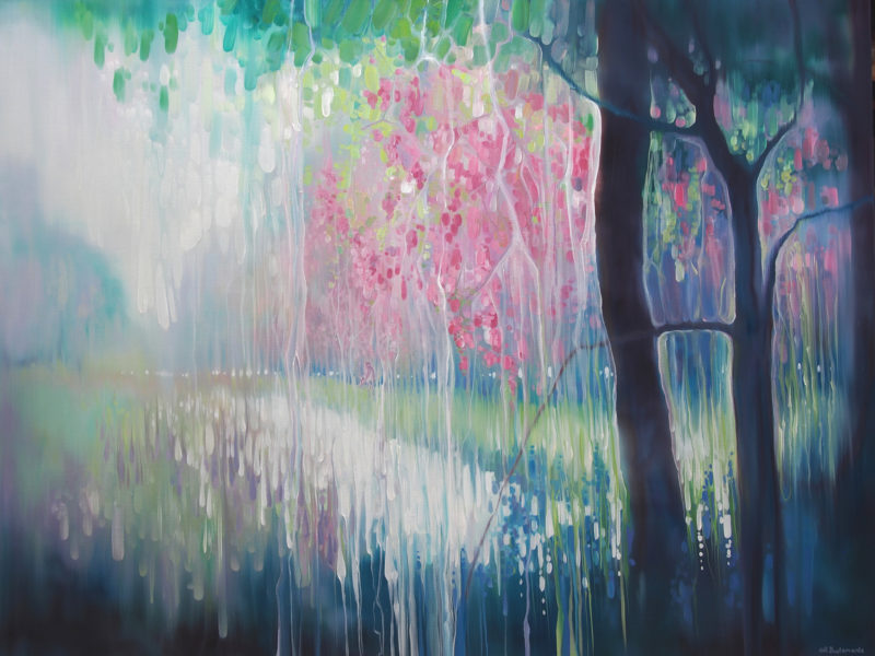 sussex valley semi abstract painting