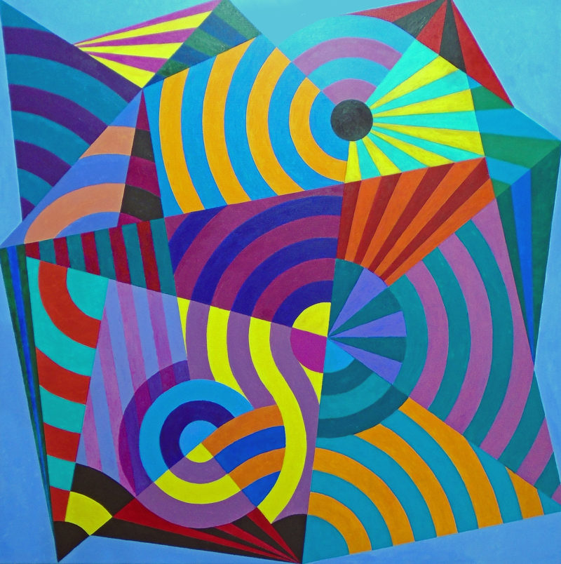 geometric abstract painting by stephen conroy