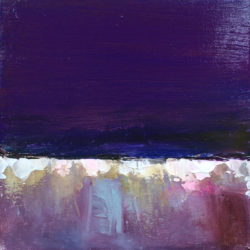 purple abstract painting by maxine martin