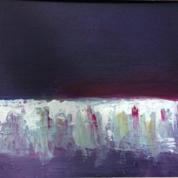 abstract landscape in purple by maxine martin