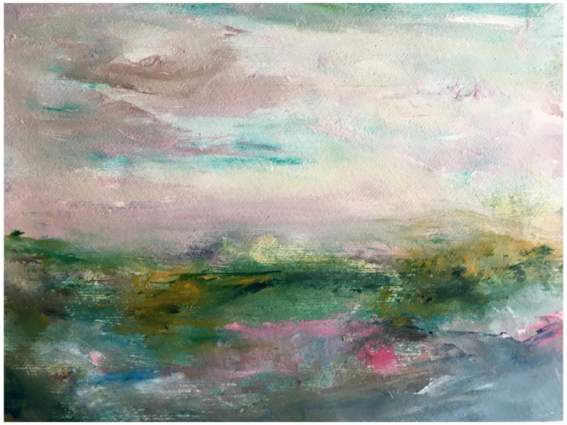 abstract landscape painting by isobella