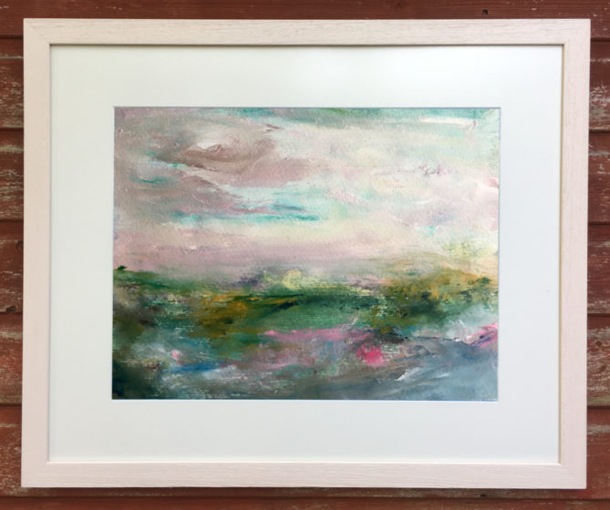 abstract landscape painting for sale by isobella at rippingham art