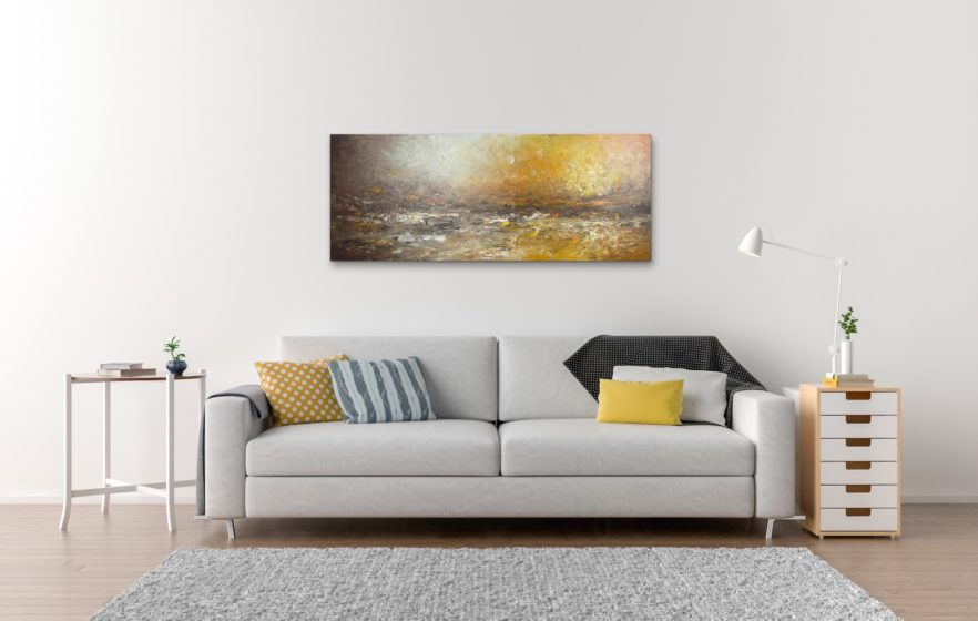 home shores panoramic painting