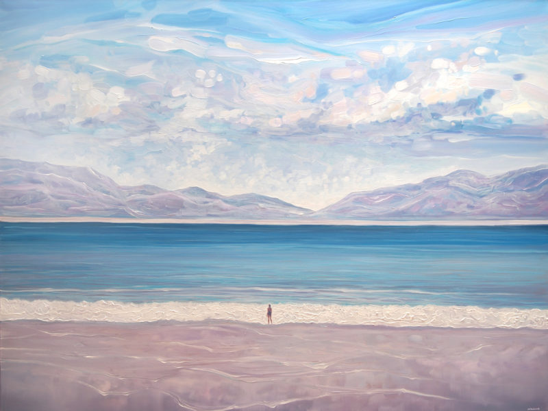 Escape to the Blue Sea - a large seascape oil painting by gill bustamante