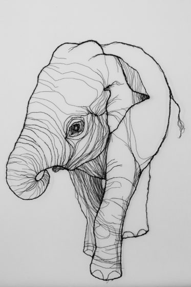 wire elephant sculpture for sale