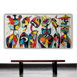 LARGE PAINTING ABSTRACT FIGURATIVE