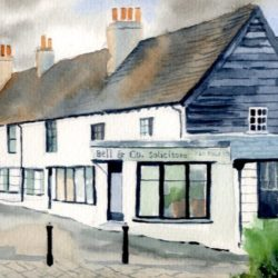 cheam, surrey watercolour painting