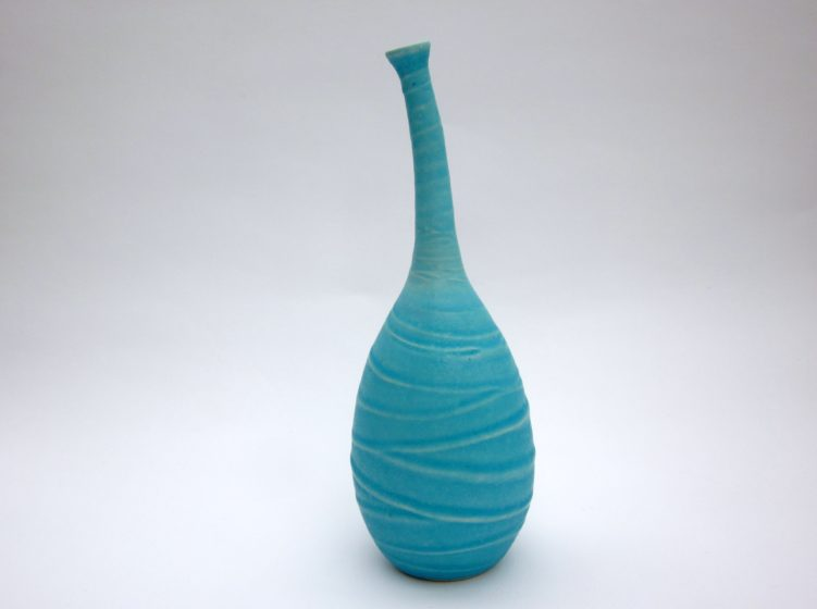 organic turquoise ceramic vase for sale