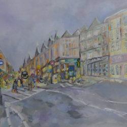 marylebone high street painting by mary blackburn