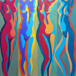 large figurative painting by stephen conroy