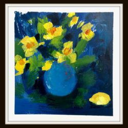 Still Life with Daffodils and Lemon by jan rippingham