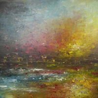 abstract seascape by kalpana soanes
