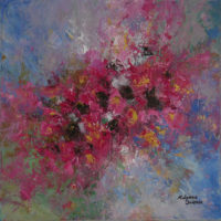 abstract floral painting by kalpana soanes