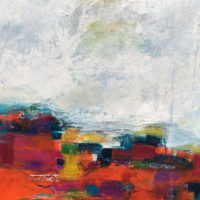 abstract landscape painting by angela dierks