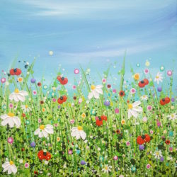 Poppy & Daisy Flourish original painting by lucy moore