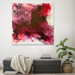 large square abstract canvas painting