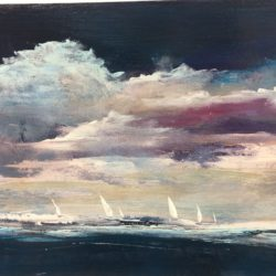 seascape boats sea maxine martin