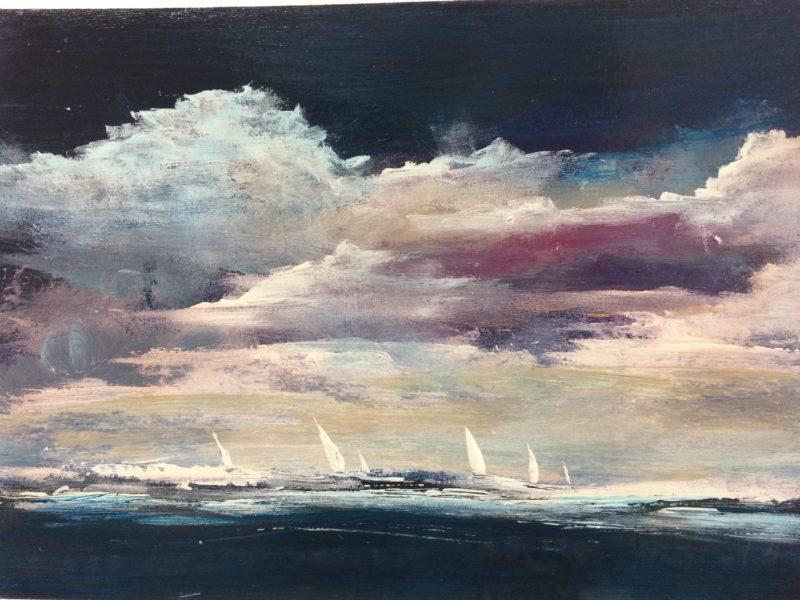 seascape boats sea maxine martin
