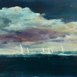 seascape with boats maxine martin
