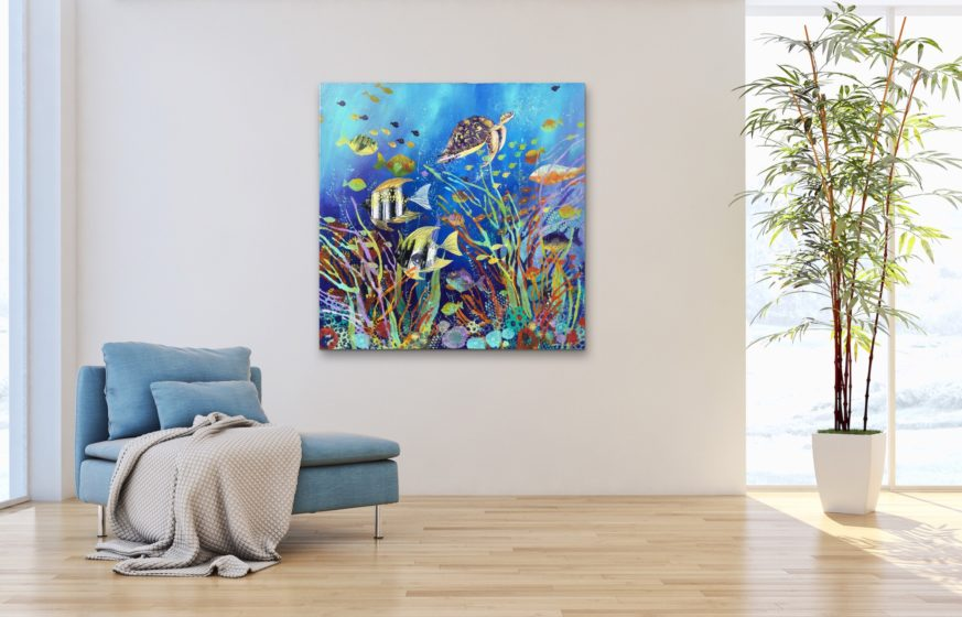tropical fish painting by irina rumyantseva