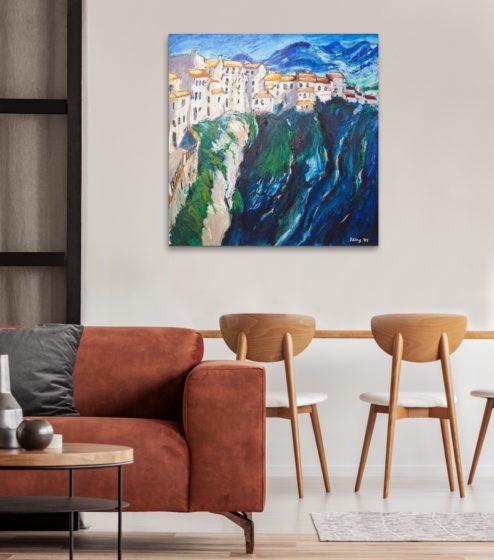 rhonda, spain, impressionistic painting