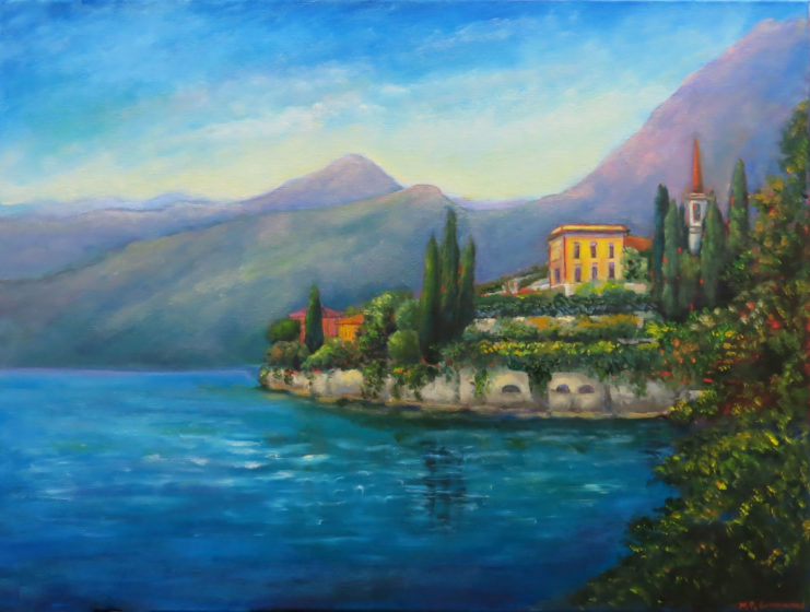lake como original painting