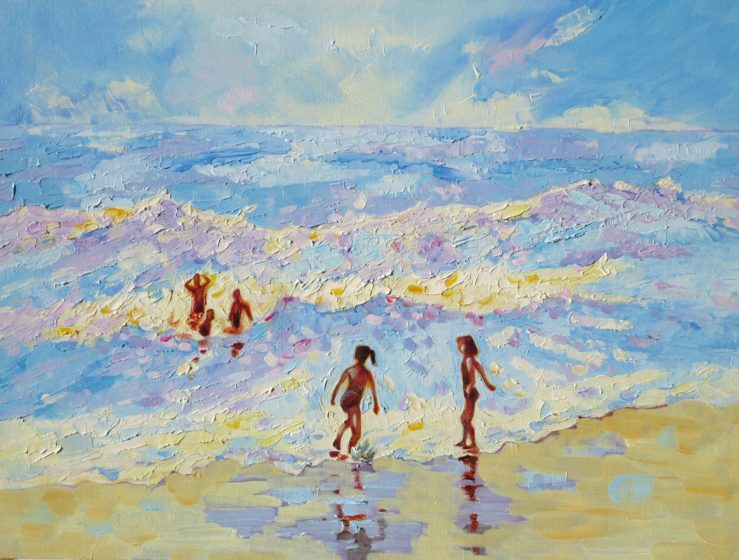 summer holiday waves painting