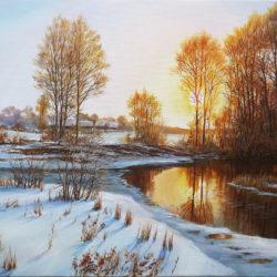 landscape, realism oleg riabchuk