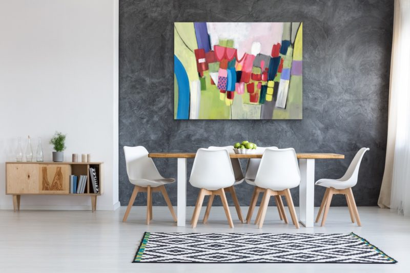 LARGE ABSTRACT COMMISSION BY JAN RIPPINGHAM