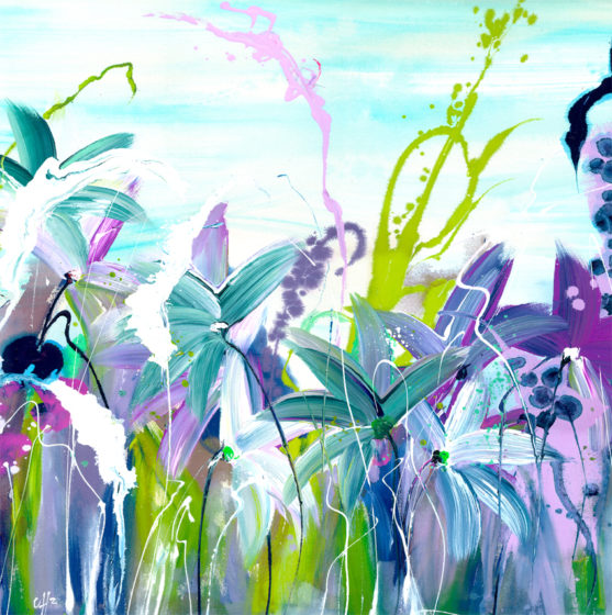 floral print by clare hooper