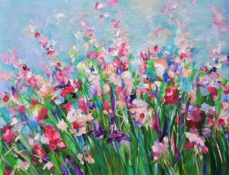 michelle carolan floral painting