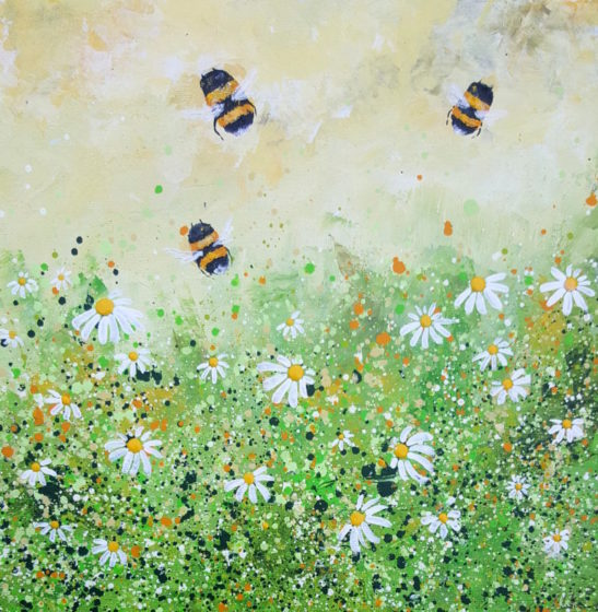 bees and daisies by lucy moore