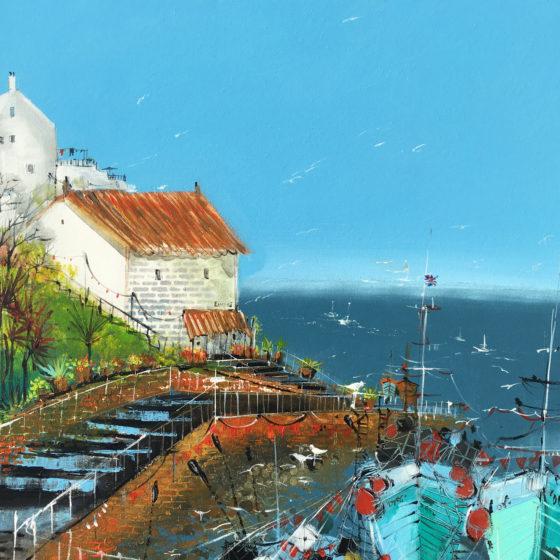 Cornwall harbour painting irina rumyantseva