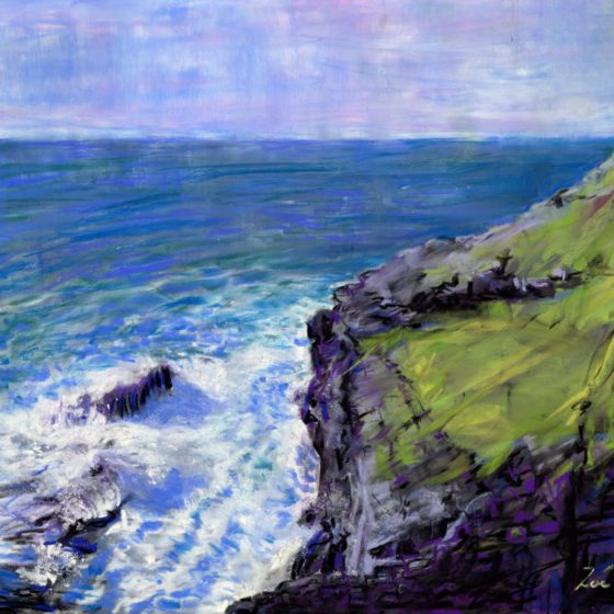 tintagel cornwall painting