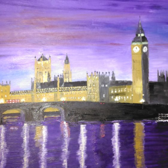 london at night painting
