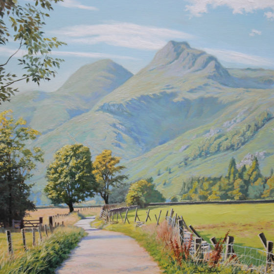 langdale pikes lake district painting