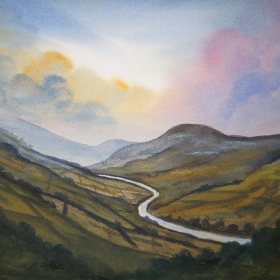 borrowdale lake district painting