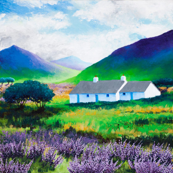 scottish highland painting by shirley netherton