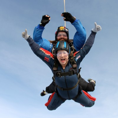One of our brave Skydivers!