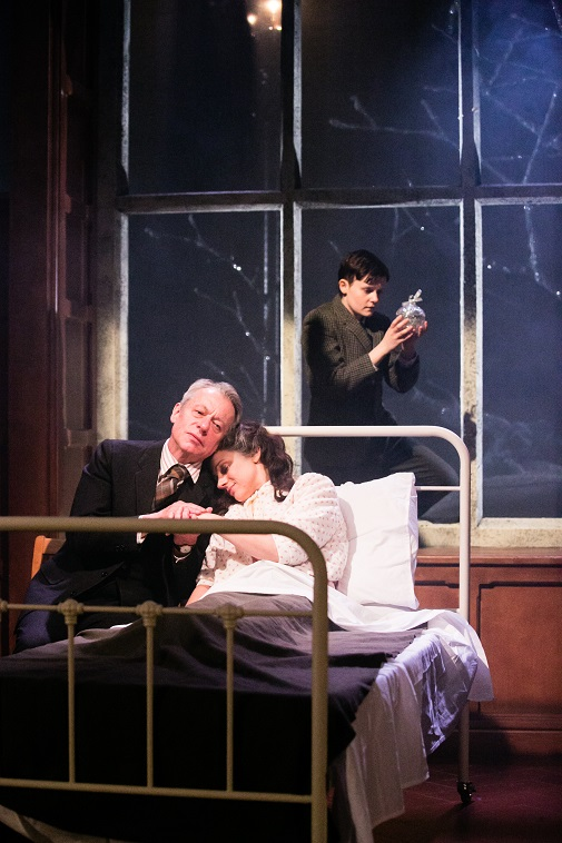 Stephen Boxer, Amanda Ryan and Shannon Rewcroft (back) in Shadowlands. Credit Jack Ladenburg web