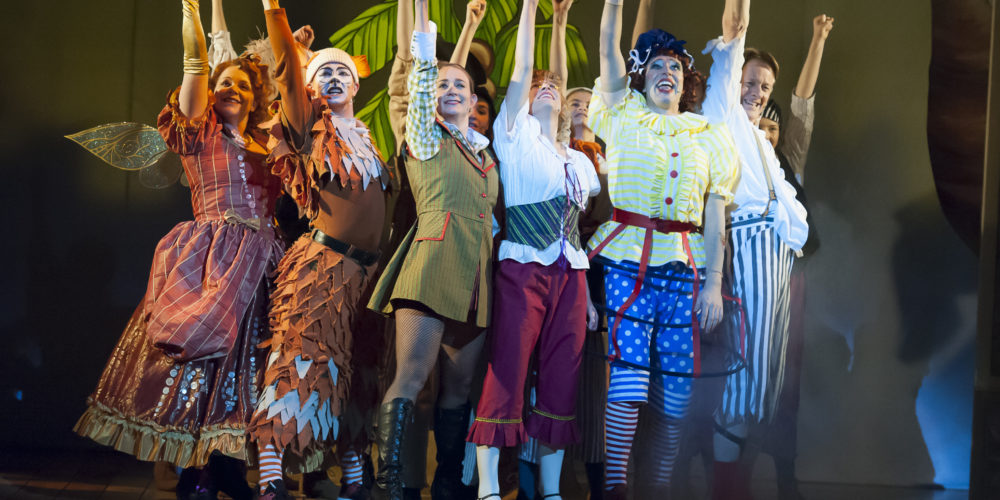 Dick Whittington full cast victory scene, 2017 pantomime
